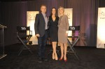 Syfy's Mark Stern with Lost Girl stars Anna Silk and Zoie Palmer