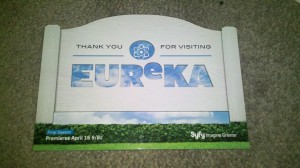 You are leaving Eureka