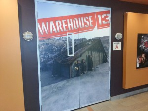 The studio door to Warehouse 13