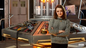 Maisie Williams on the TARDIS