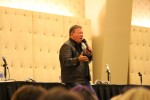William Shatner talking to the crowd