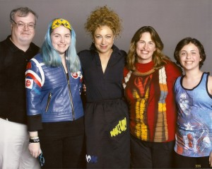 The family with Alex Kingston, RICC 2015